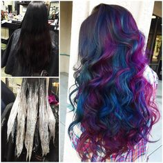 cosmic oil slick hair