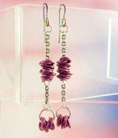 Look Sharp Hypoallergenic Purple Niobium Earrings by unkamengifts, $40.00