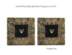 Jeweled Butterfly Upholstered Boards, set of 2 $228. limited edition of 8. exclusive online designNashville