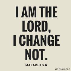 Malachi 3:6 | Bible Verses
