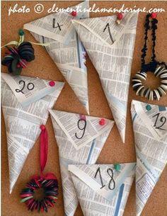 ¡Calendario de Adviento con papel reciclado!