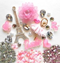 DIY 3D Rhinestone Eiffel Tower Bling Cell Phone Case Resin Flat back Kawaii Cabochons Deco Kit / Set -- lovekitty by lovekitty: Arts, Crafts & Sewing