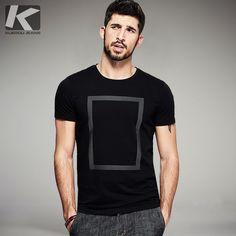 dfc762020f5 KUEGOU Лето 2017 г. Мужская мода футболки принт черный