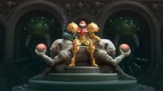 She Poses, Wickedly Brilliant on Her Throne #Metroid