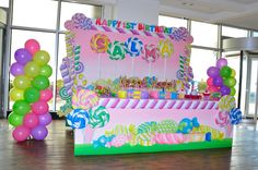 Party Planning is fun & easy in Saudi Arabia with our big range of birthday party themes, party supplies, balloon decorations, birthday party decoration ideas, Candy Theme Birthday Party, Candy Land Theme, Holiday Party Themes, Girl Birthday Themes, Candy Party, Birthday Parties, Party Ideas, Birthday Ideas, Candyland