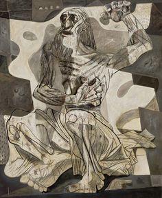 Candido Portinari. Jó, 1943. MASP Art And Illustration, Picasso Art, Pablo Picasso, Art Eras, Outsider Art, Cubism, Large Art, Contemporary Paintings, American Artists