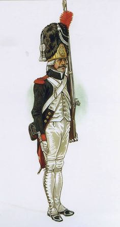 French; Imperial Guard Grenadiers a Pied,Grenadier, 1804-05 by P.Courcelle