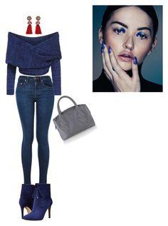 """Blue"" by sedefolga on Polyvore featuring moda, Lanvin, GUESS, women's clothing, women's fashion, women, female, woman, misses ve juniors"