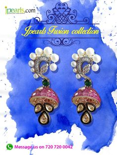 Because #fusion #jhumkas are the next #in thing! Pick your designs before anyone else @ #Jpearls