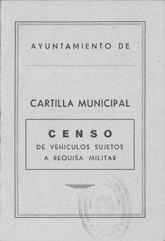 CENSO de requisa militar : a efectos de movilización, para caso de guerra, formado con arreglo a lo dispuesto en el Reglamento de Movilización del Ejército. -- [S. l. : s. n. ], D. L. 1960 (La Coruña : Lit. e Imp. Lorman). -- 23 p. ; 15 cm