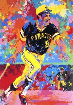 """Because its' Willie Stargell's birthday today — and nothing says """"70s Baseball"""" quite like a Leroy Neiman painting of the leader of the """"We Are Family"""" Pirat"""