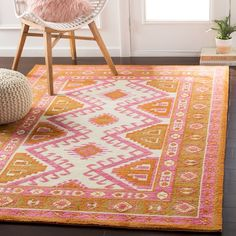 Stalbridge STAL with colors Cream, Cream/Bright Pink/Camel/Burnt Orange/Mustard. Machine Woven 100% Polyester Bohemian/Global made in China