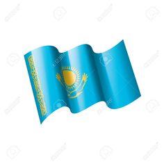 Kazakhstan national flag, vector illustration on a white background , Flag Vector, National Flag, Kazakhstan, Vector Background, Art Designs, Graphic Art, Illustration, Ideas, Art Projects