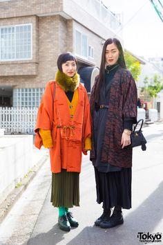 Harajuku Girls in Kimono Coats