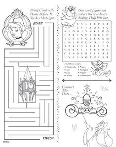 Cinderella Activity Sheet - Printable - Rewards - Disney Movie Rewards