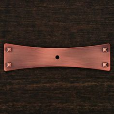 This distressed copper finish appliance/door pull handle with ...