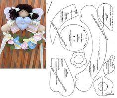 Colgante: angel con flores. Idea