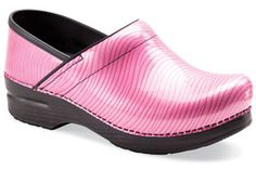 Exclusive Dansko 'ProXP' Pink Ribbon Swirl Clog. I LOVE THESE!! I want want want! :)