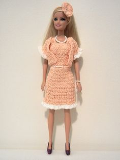 Barbie strapless chevron dress free crochet pattern barbie crochet patterns galore peaches and cream barbie suit free pattern dt1010fo