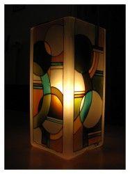 Kör a négyzeten meselámpaMikulásos  www.meselampa.hu by AsterGlass Design (Burján Eszter 'Aster' üvegfestő művész)