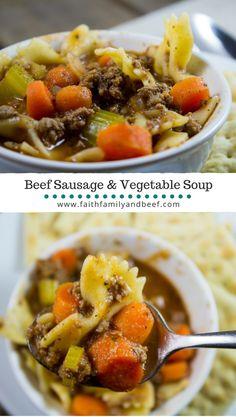 Beef Sausage & Veget
