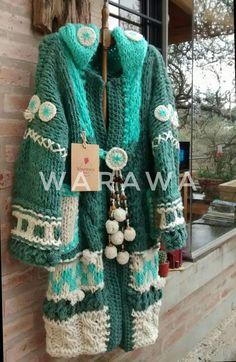 Loom Knitting, Knitting Patterns, Crochet Patterns, Crochet Jacket, Crochet Cardigan, Love Crochet, Knit Crochet, Boho Fashion, Womens Fashion