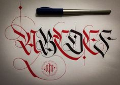CALLIGRAPHY FRAKTUR LETTERING on Pantone Canvas Gallery