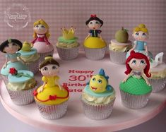 Cute Disney Princess Cupcakes made by Clever Little Cupcake Company