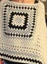 Cómo tejer poncho crochet en tres colores / Paso a paso | Crochet y Dos agujas