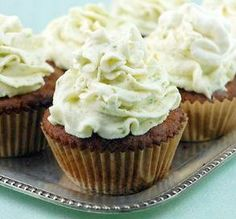 coconut cupcakes with key lime icing- my cupcakes came out a lot lumpier, but still very tasty! Coconut flour cupcakes will be denser than the cupcakes made with regular flour, but they are very moist! Paleo Cupcakes, Coconut Cupcakes, Cupcake Recipes, Cupcake Cakes, Dessert Recipes, Cup Cakes, Lime Cupcakes, Gourmet Cupcakes, Coconut Muffins