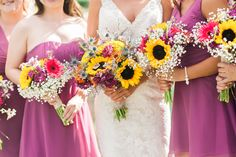 A little southern charm bouquet style // Photo by Jennie Andrews  #wedding #castletonfarms #southernwedding #summerwedding #weddingcolors #weddingbouquets