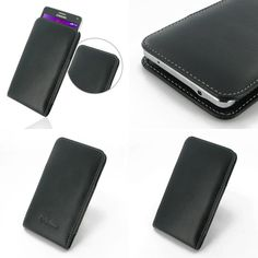 PDair Leather Case for Samsung Galaxy Note 4 SM-N910T - Vertical Pouch Type (Black)