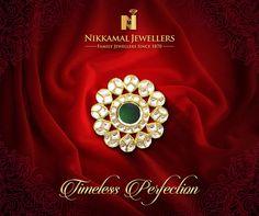 Timeless Perfection exclusively designed & created for you at Nikkamal Jewellers Ludhiana & Jalandhar Showrooms. #nikkamaljewellers #gold #diamond #kundan #polki #platinum #watches #jewellery #jewelry #rings #kundanring