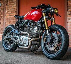 750 Yamaha Virago Virago Cafe Racer, Yamaha Cafe Racer, Yamaha Virago, Virago 535, Cafe Bike, Honda Cb750, Cafe Racer Motorcycle, Moto Bike, Ducati