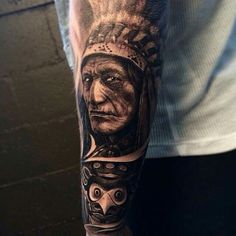 Indian cheif tattoo