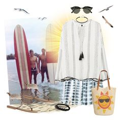 """Summer in Surf City"" by krusie ❤ liked on Polyvore featuring Retrò, Thakoon, MANGO, Style & Co., Ray-Ban and Shamballa Jewels"