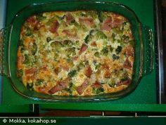 LCHF-Broccoli/falukorvsgratäng