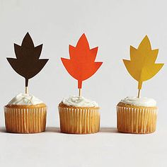 Mini Leaf Toppers from Sarah Goldscahdt's new book Craft-a-Day: 365 Simple Handmade Projects