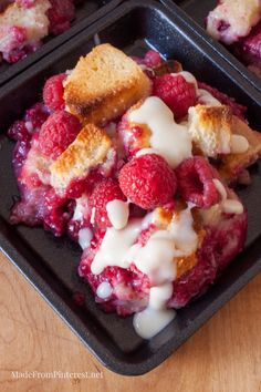 Rockin' Raspberry Bread Pudding - This is not your every day bread pudding. This is roll out the red carpet for a special occasion fabulous! The vanilla sauce sends this over the top!