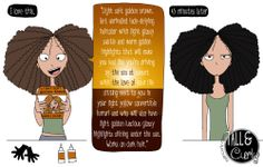 This has happened to me many, many times. Separate the marketing from the reality. // Hair color illustration. - Tall N Curly comic