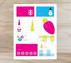 Merry & Bright Gift Labels – Rob & Bob