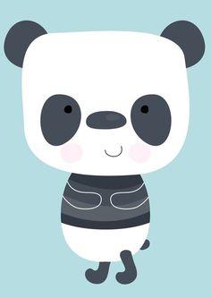 Poster Panda, Lieve Panda beer op een Poster.