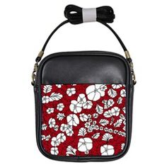 Red White Black Flowers Girls Sling Bags from CircusValley Mall Front Black Flowers, Red And White, Floral, Gifts, Sling Bags, Mall, Clothes, Decor, Decorating