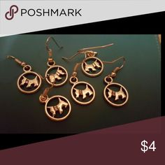 Silver Dog Earrings BOGO 1 for $4, 2 for $6, 3 for $8, 4 for $10, 5 for $12 and so on. Orders including 10 or more $4 priced are eligible for any earrings after 10 pairs is only $1 each! Creation Central Jewelry Earrings