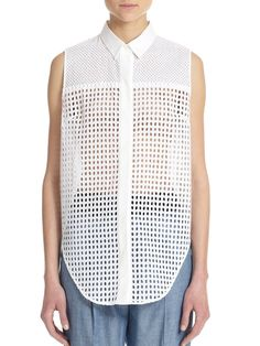 Pin for Later: You'll Never Look at This Wardrobe Staple the Same Way 3.1 Phillip Lim Cotton Eyelet Sleeveless Shirt 3.1 Phillip Lim Cotton Eyelet Sleeveless Shirt (£125, originally £316)