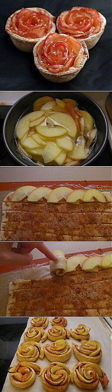 Tarçın rulo ve elma