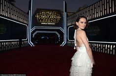 Making her entrance: The actress was relatively unknown before landing the role of Rey in ...