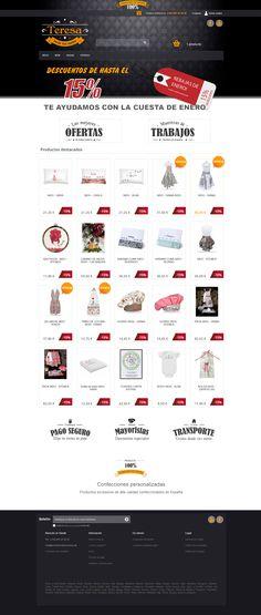 Tienda online www.teresabordatussuenos.es dedicada a la venta de bordados y confecciones personalizadas.