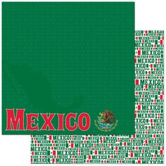 Passports Collection Mexico Double-Sided 12 x 12 Scrapbook Paper by Reminisce