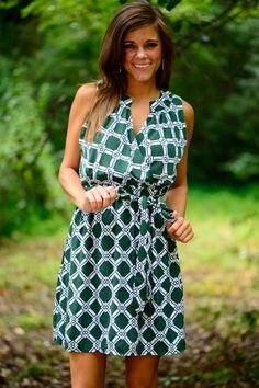Diamond Days Dress, Green